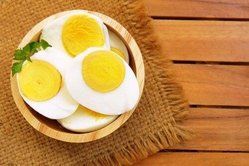 शरीर का वजन: अंडे