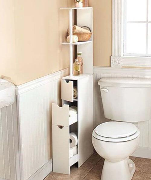 बाथरूम में जगह बचाने की टिप्स: फर्नीचर