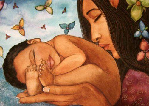3-माँ और बच्चा
