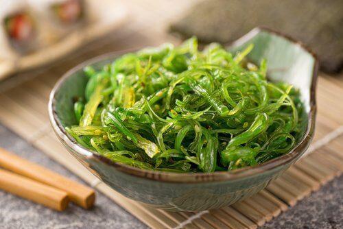 3. खारा नमक और शैवाल (algae)