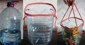 प्लास्टिक की बोतलें : बास्केट